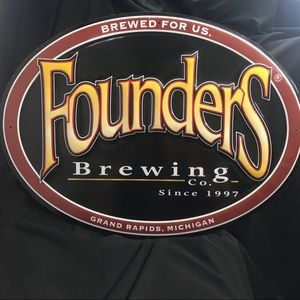 "Founder's Brewing Company Tin 20 x 15"" Sign"